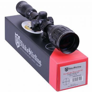 Nikko Mountmaster 3-9x50 Parallax Illuminated Half Mil Dot Rifle Scope with 9-11mm Airgun and Rimfire .22 Mount Rings